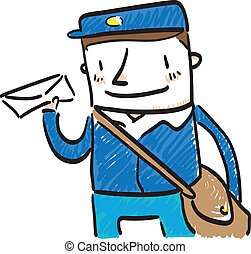 Mailman - Illustration of a mailman.
