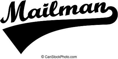 Mailman retro font