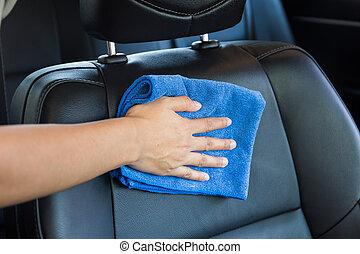 voiture seat nettoyage main photos de stock rechercher des photographies et des photos. Black Bedroom Furniture Sets. Home Design Ideas
