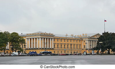 The Admiralty building is the former headquarters of the Admiralty Board in St. Petersburg, Russia