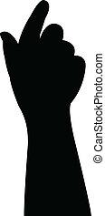 main bébé, vecteur, silhouette