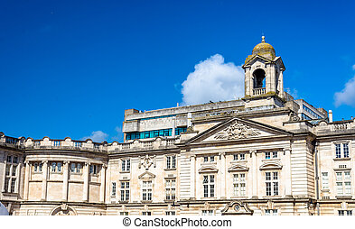Main building of Cardiff University - Wales