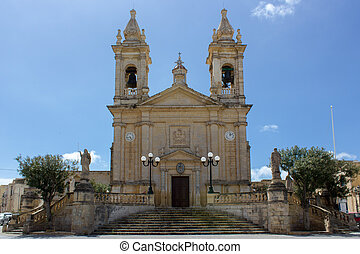 main church of Sannat in Gozo, Malta