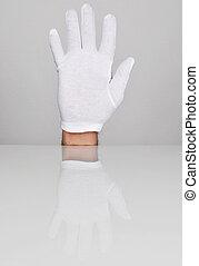 main, cinq, doigts, pointage, haut.