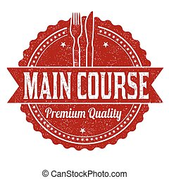 Main course grunge rubber stamp
