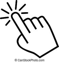main, curseur, icône