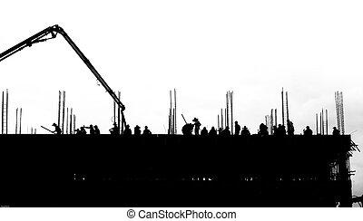 main-d'œuvre, travailler, bâtiment