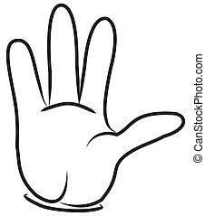 main., dessin animé
