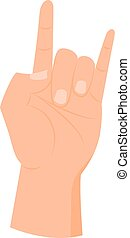 main, dessin animé, icône