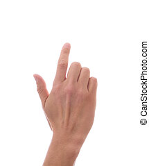 main, doigt index