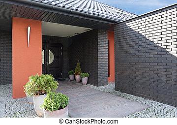 Main door in house