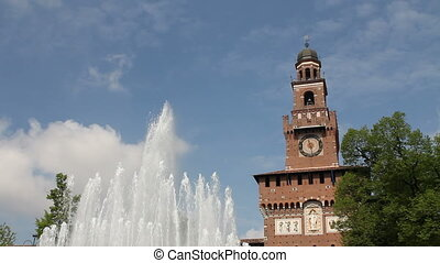 Main entrance of Castello Sforzesco