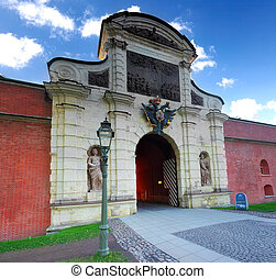 Main Entrance Peter and Pavel Fortress , Saint Petersburg. ...