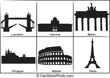 Main European landmarks - Main landmarks and monuments of...