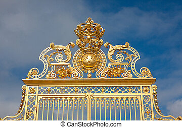 Palace of Versailles - Main Gate in the Palace of...