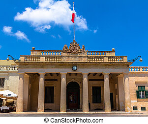 The Main Guard building at palace square in Valletta.