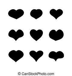 main heart shapes set