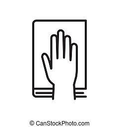 main, humain, icon., serment, bible