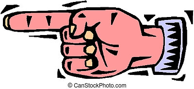 main, illustration, doigt indique