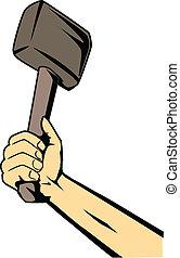 main, marteau