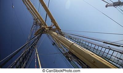 Main Mast and Shrouds of Tall Sailing Ship - Main mast and...