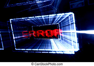 main menu error abstract background