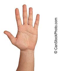 main ouverte