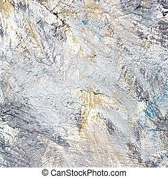 main, peint, toile, à, brosse caresse, texture