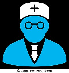 Main Physician Icon - Main Physician vector icon. Style is...