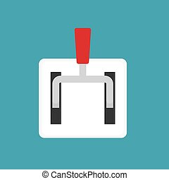 main power industry switch- vector illustration