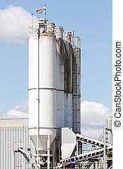 Main Processing Silos of a concrete factory