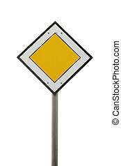 Main road traffic sign