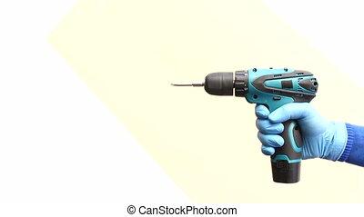 main, sans fil, isolé, prise, tournevis électrique