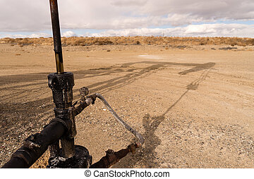 Main Shaft Pump Lack Oil Fracking Station Wyoming