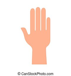 main, silhouette, humain, icône