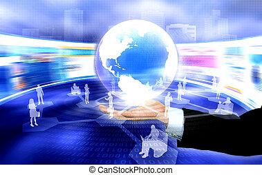 main, social, gestion réseau