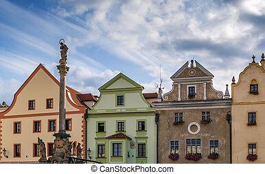 Main square in Cesky Krumlov, Czech republic