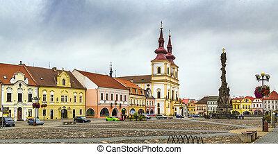 Main square in Kadan, Czech republic