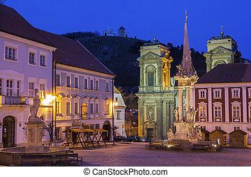 Main Square in Mikulov in Czech Republic