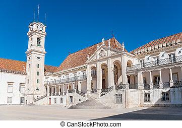 Main square called Patio das Escolas of Coimbra University