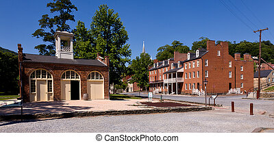 Main street of Harpers Ferry a national park - National Park...