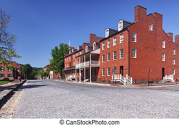Main street of Harpers Ferry a national park