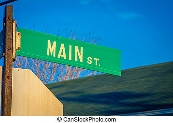 main street sign in nova Scotia