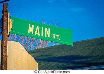 main street sign in nova Scotia