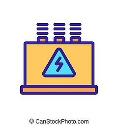 main switchboard icon vector. main switchboard sign. color symbol illustration