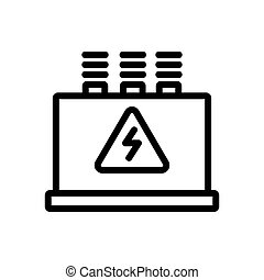 main switchboard icon vector. main switchboard sign. isolated contour symbol illustration
