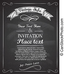 main, tableau, drawnvintage, invitation