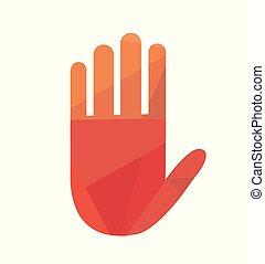 main, vecteur, illustration, icône