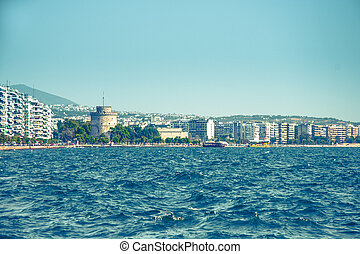 Main view on Thessaloniki embankment - Main view on...