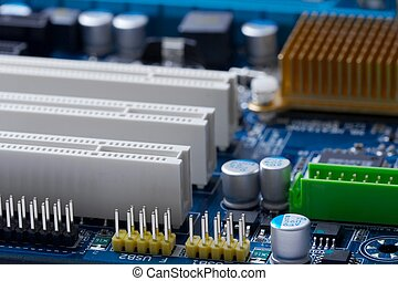 Mainboard - Blue computer mainboard